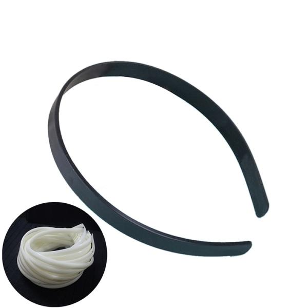 10st 12mm tomt vanligt plastpannband med diy hårband tillbehör