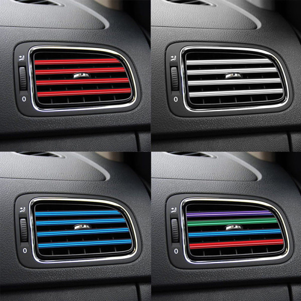 10X bil luftkonditionering utlopp ventilationsgaller dekoration U form M