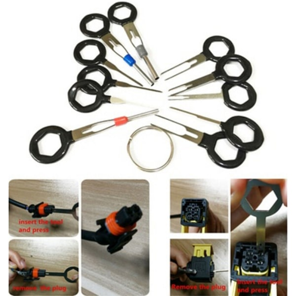 11 * Anslutningsstift Extractor Kit Terminal Removal Tool Car Elect
