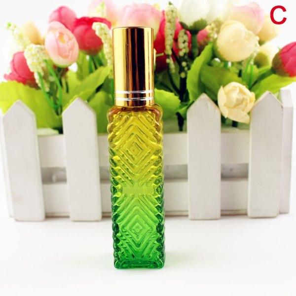 15 ml bärbar kvadratgradient parfymflaska underbotten spray co C