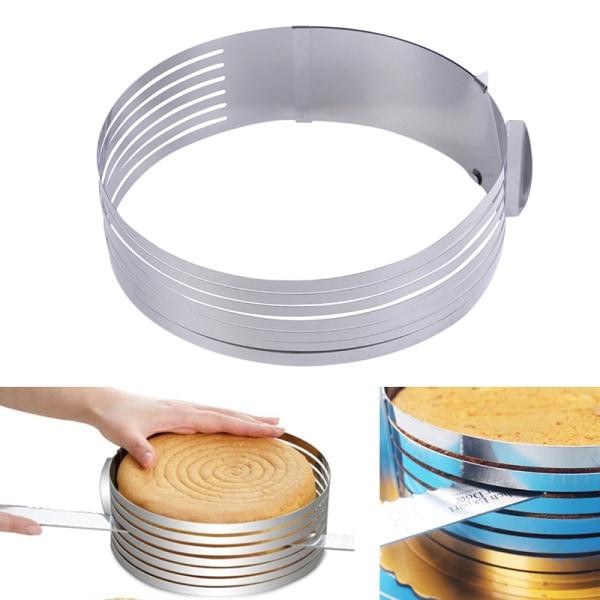 16-30 cm justerbar rund rostfri stålkakform mögel lager S