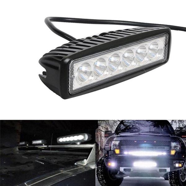 18W 6000K LED-arbetsbelysning för körlampa dimma SUV-bil