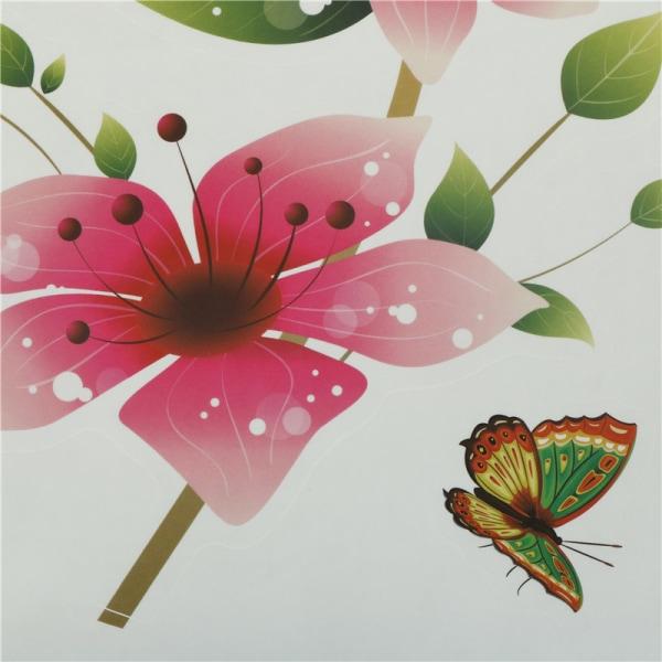 1 st fjäril blomma avtagbar hem vägg klistermärke konst vinyl mura