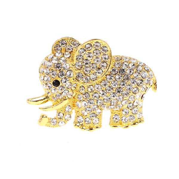 1pc elefantbil aromventilklämma bil luftutlopp parfymklippbil Gold