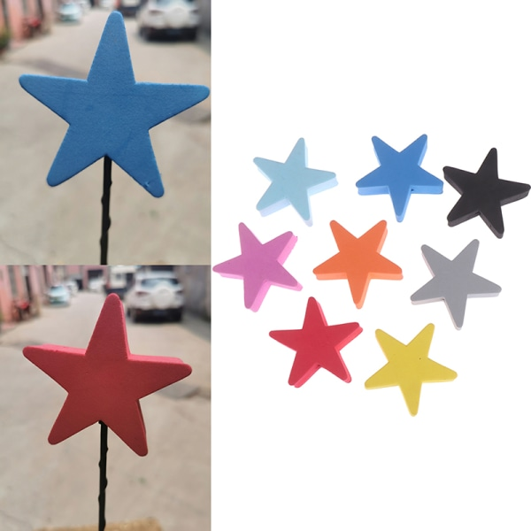 1pc färgglad femspetsig stjärna bilantenn penna topper aerial eva
