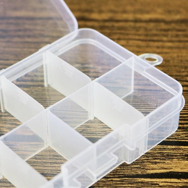 1 ST Plast 8 Spår Justerbar Smycken Förvaringslåda Väska Craft O
