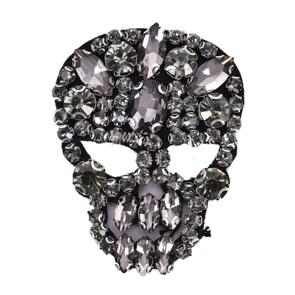 1st Rhinestones Skull Beaded Sequins Sy på lappar för kläder