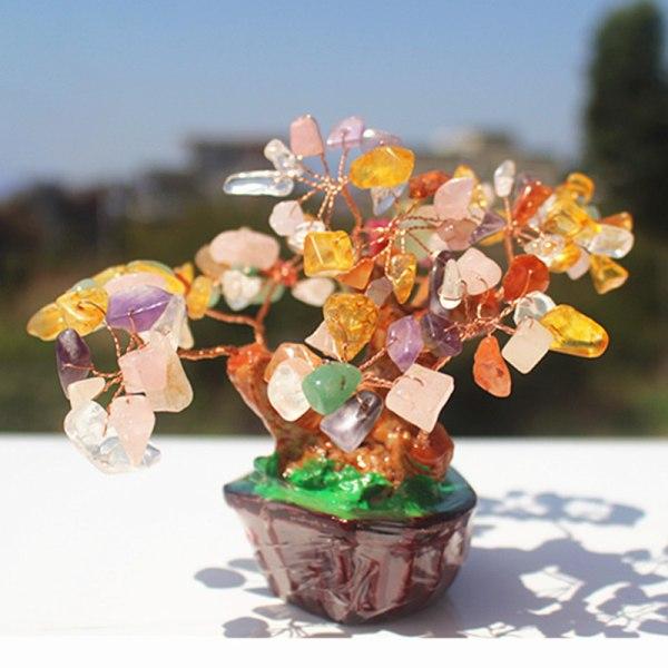 1st Natural Crystal Tree ametistblockbas Lucky Tree Decora