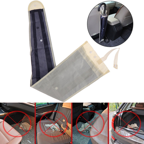 1X bil auto ryggstöd paraply förvaringsväska vikbar arrangör H