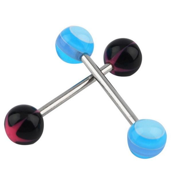 20/50 / 100st tungstänger kirurgiskt stål skivstång ringar bollkropp B:50PCS
