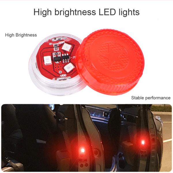 2st Blinkande LED-bilvarningslampa Auto Strobe Traffic Anti Col