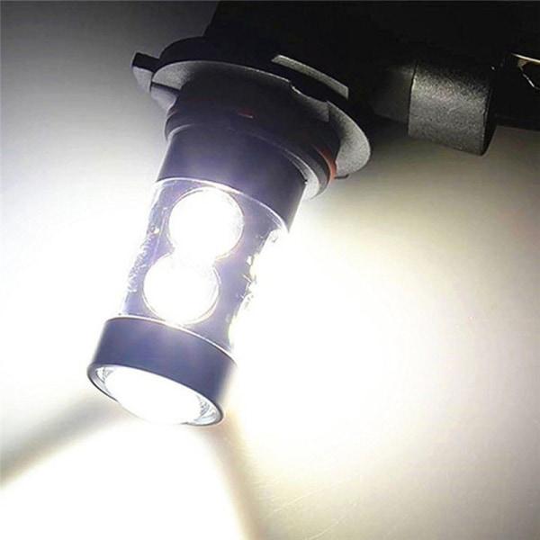2st H8 100W LED-lampa 8000K Vit projektor Dimljus B