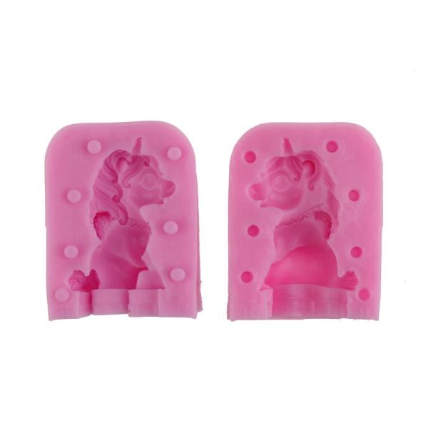 2st / set 3D Unicorn silikon kakform mögel fondant formar bakning de