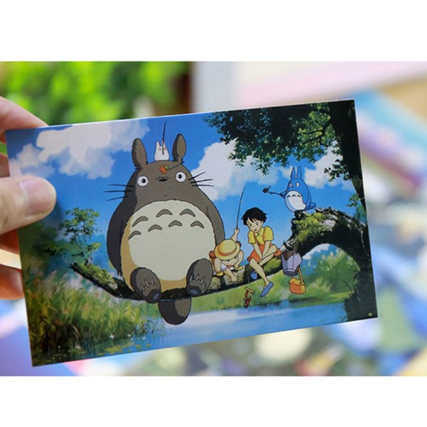 30ark / mycket tecknat vykort vintage målningar hayao miyazaki
