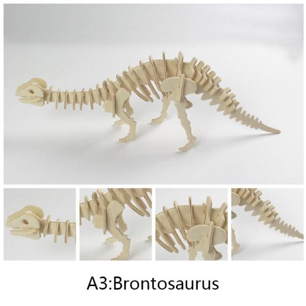 3D-simulering Dinosaurie Pussel Leksaker Trä pedagogisk interaktiv