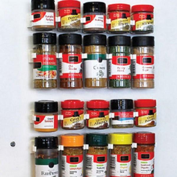 4st Spice Wall Rack Förvaring Plast Kök Arrangör 5 krokar /