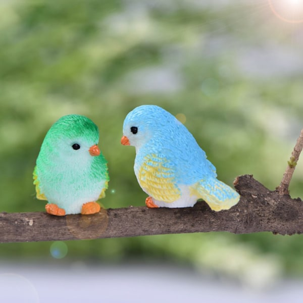 5 st / set harts hem prydnad söta fåglar djurmodell fig A2