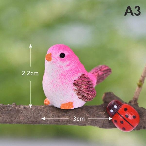 5 st / set harts hem prydnad söta fåglar djurmodell fig A3