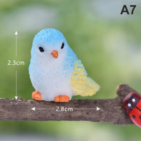 5 st / set harts hem prydnad söta fåglar djurmodell fig A7