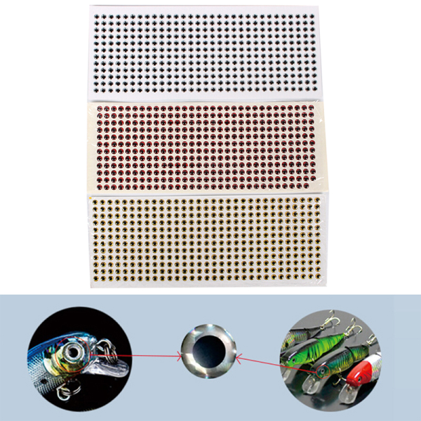 500PCS / Pack 3-6mm Fish Eyes 3D Holographic Lure Eyes Fly Tying