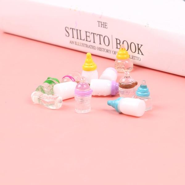 5st / Set DIY Harts Simulering Mini Babyflaska Doll House Decor