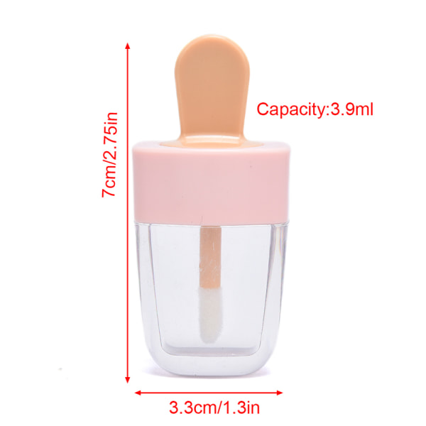 6st Glassform Mini Läppglansrör Tom behållare Läpp L.