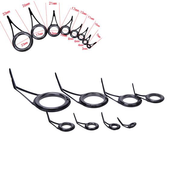 8st 8 Storlek Fiskespö Styrspets Topp Ring Cirkelstångsreparation K
