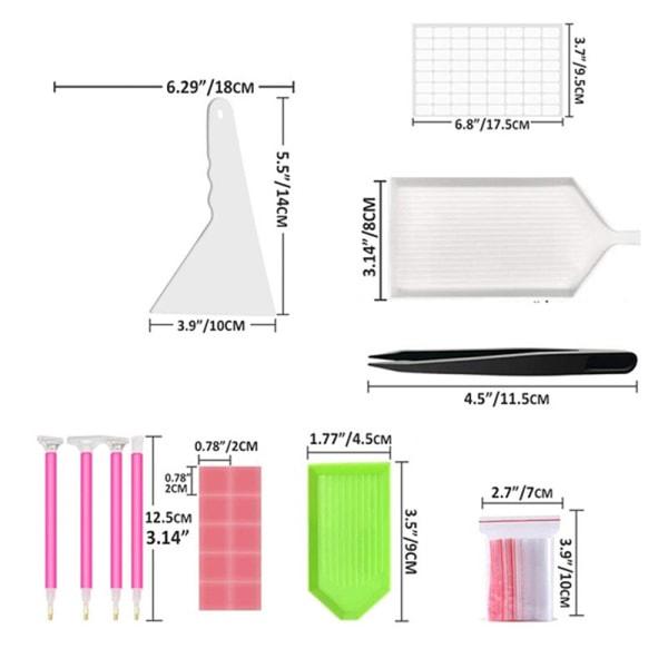 A4 / A5 LED-ljusskiva Diamantmålningsverktygssatser 28/56 Raster D