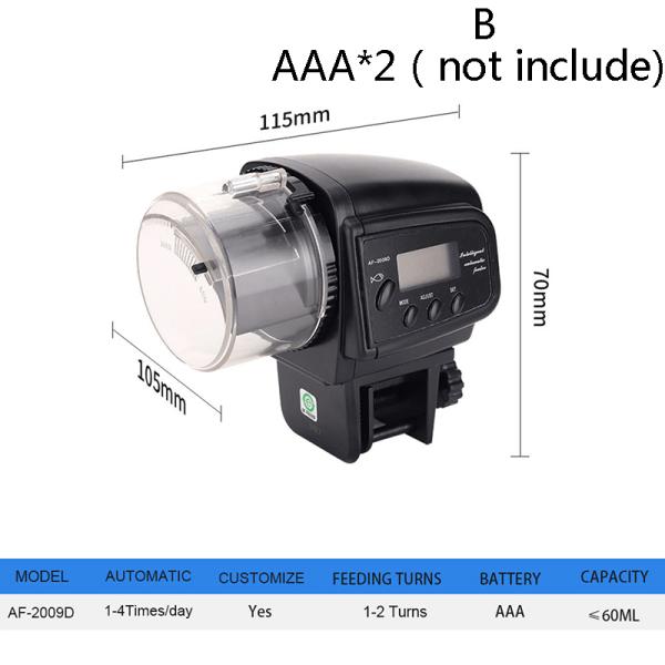 automatisk akvariummatare trådlös akvarium automatisk timer fis B