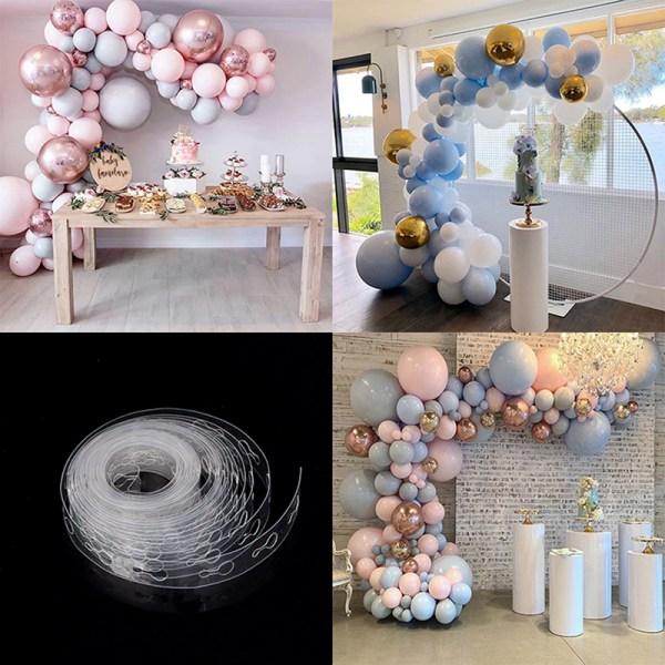 Ballongkedja Ballongknytare Limband Party Ballonger vägg D