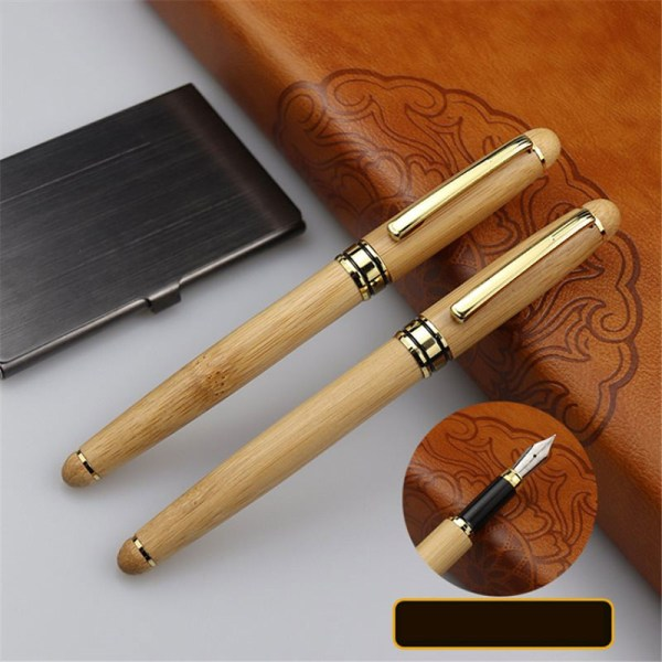 Bambu Kulspetsfodral Box Skräddarsydd penna gynnar fars dag Bac