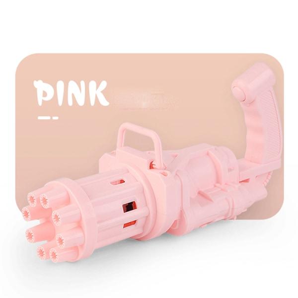 barn gatling bubbla leksaker sommar automatisk tvål vatten bubbla Pink