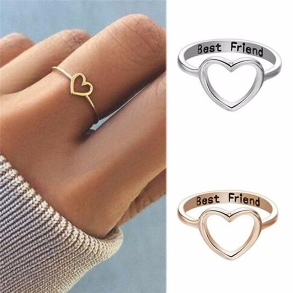 Best Friends Heart Finger Ring Knuckle Ring Friend Love Smycken