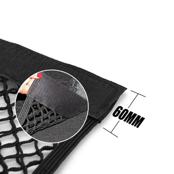 bil bakre nätet bagageutrymme elastisk sträng netto magisk klistermärke univer Black