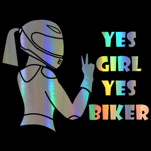 bil motorcykel klistermärken ja flicka ja biker auto styling waterpro A2