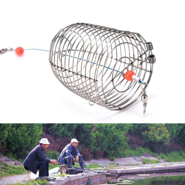 bur fiske fälla korg matare hållare rostfritt stål tråd fisk