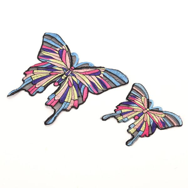 Chic Big Butterfly Broderiduk Klistermärken Kläder Patch Clot
