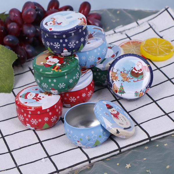Jul godisask förvaring järnlåda jultomten gåva Aromather