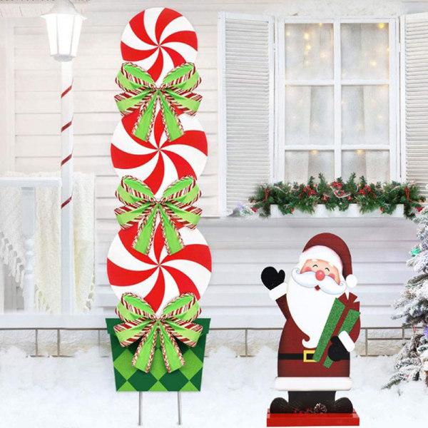 Juldekorationer Trätecknade figurer Desktop Xmas Suppli