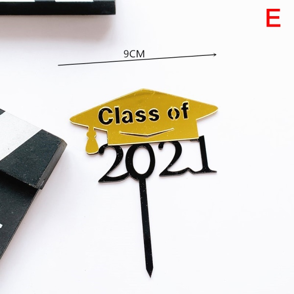 Klass av 2021 akrylkaka toppare för student examen ceremoni