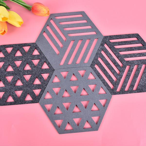Kreativ filtunderlägg Hexagon ihålig koppmatta mjuk värmeisolering