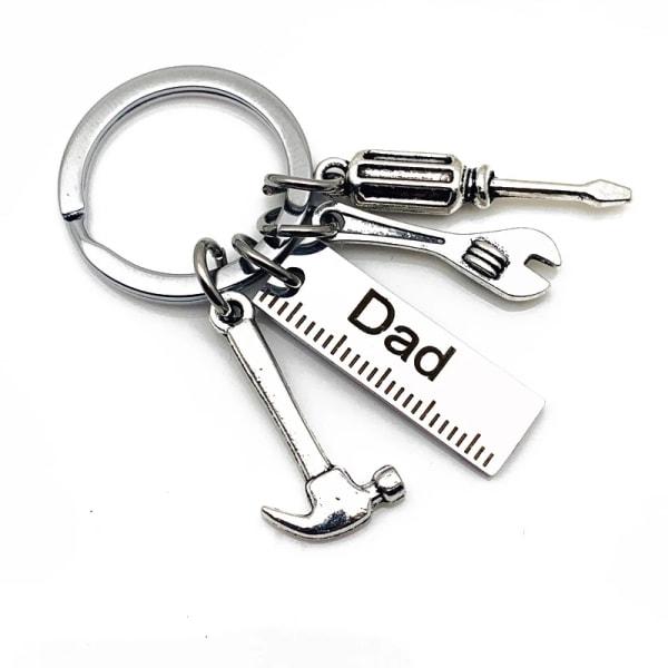 Pappa Letters Nyckelringar Creative Hammer Skruvmejsel Nyckelring Fathe