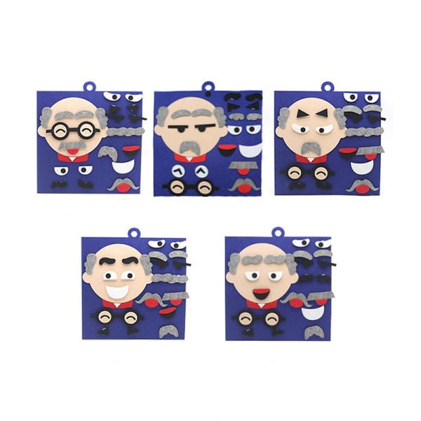 DIY leksaker känslor förändring pussel leksaker ansiktsuttryck barn utbildning Son