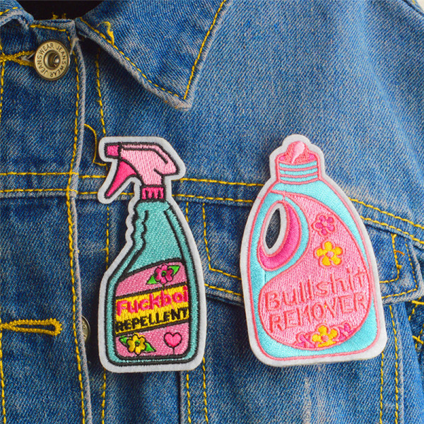 Broderad remover repellent Iron On Sew On Patch Badge Fabri