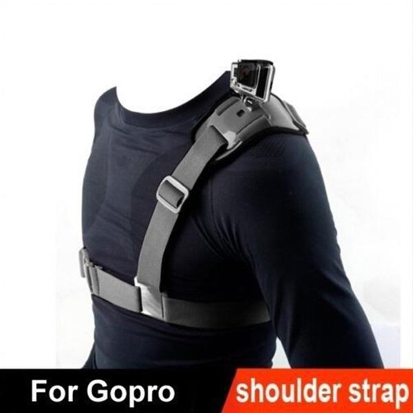 enkel bröstbälte axelremmfäste för gopro hd hero 1 2 3 3
