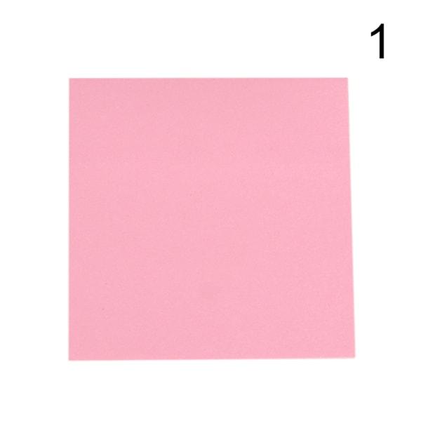 5 färger memo klistermärke papper 100 sidor fyrkantiga klisterlappar kontor pink