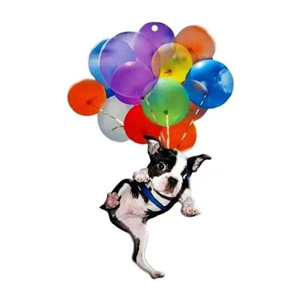 färgglada ballong katt bil hängande prydnad med flygande katt pendan E