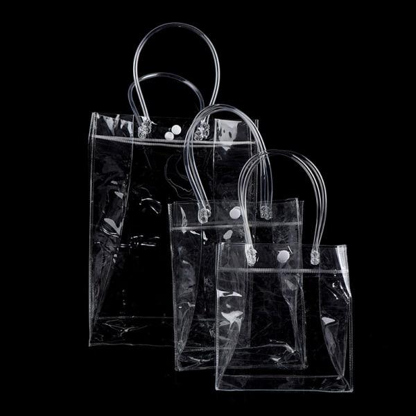 Mode klar tote väska genomskinlig handväska axelväska stadi