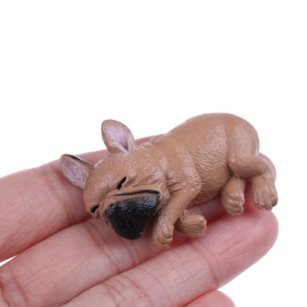 Fransk bulldogg sömnig corgis hundleksaker actionfigurer pvc-modell