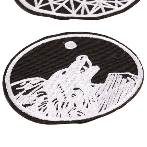 Gotisk sy på järn på lapp Broderade märken Väskor Hatt Jeans A